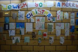 Конкурс рождественских открыток, на английском языке, в школе 1260